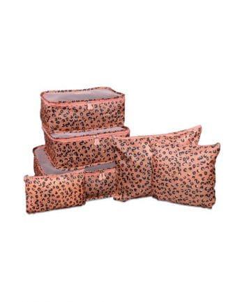 Packing cubes met roze panter print