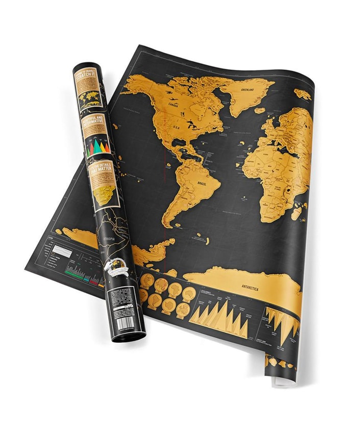 Wereldkaart scratch map