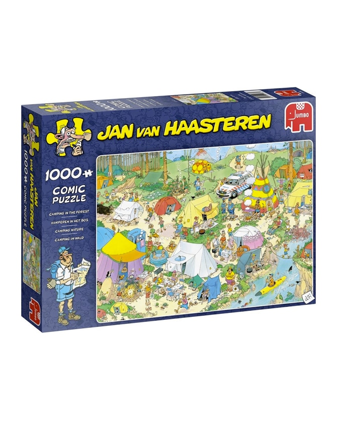 Puzzel Jan van Haasteren - kamperen in het bos