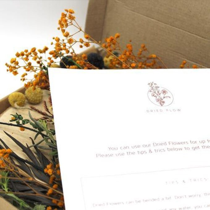 Verpakking droogbloemen